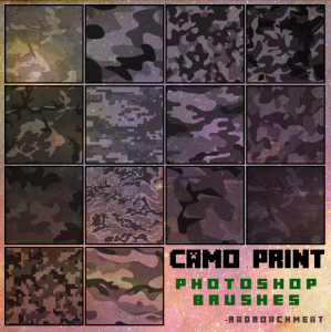 Camo Print Brushes [2016] by  radroachmeat