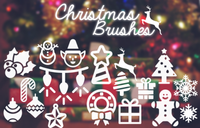 christmas brushes free photoshop Brushes  xmas