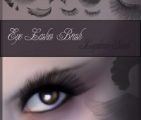 eyelashes brushes for  photo editing with Photoshop