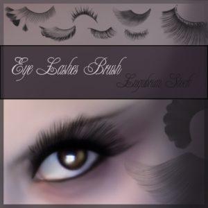 eyelashes brushes for  photo editing with Photoshop