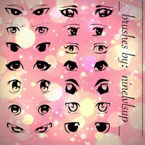 Anime eyes photoshop brushes