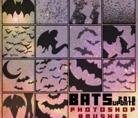 Bats free photoshop Brushes