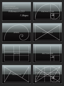 Diagonals Ratio  Triangles  combination shapes photoshop