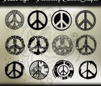 Peace Signs  photoshop shapes
