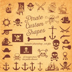 Pirate Free Photoshop Shapes