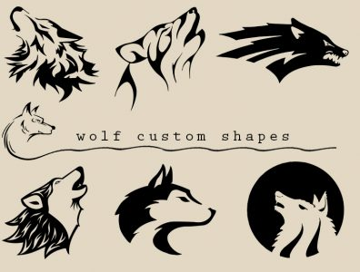 Wolf Photoshop Shapes