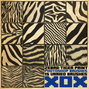 Zebra Tiger Photoshop brushes