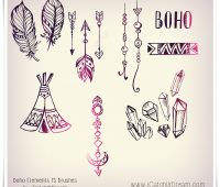 bohemian brushes photoshop