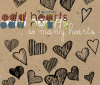 hearts doodles free brushes