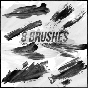 paint strokes HQ  free brushes