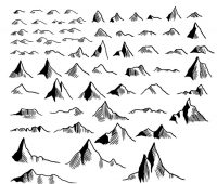sketches mountain brushes
