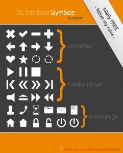 web icons custom shapes