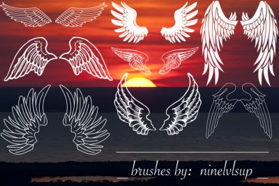 wings amazing Free Brushes