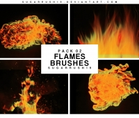 fire flames photoshop brushes