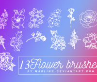 Flower  photoshop brushes