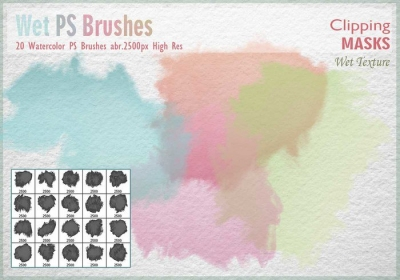 Free Watercolor Mask Brushes