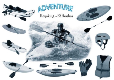 kayaking adventure photoshop brushes