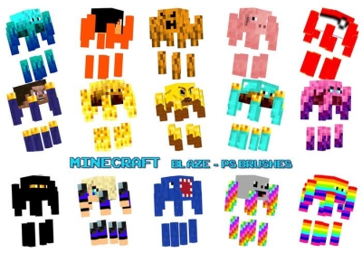 minecraft photoshop brushes