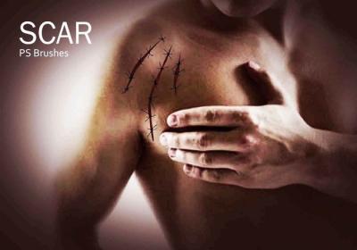 scar photoshop brushes