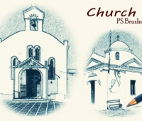 sketch church  ps brushes abr