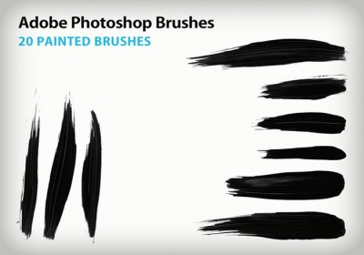paint stroke brushes photoshop