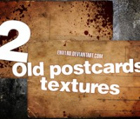 2 Old Postcards textures