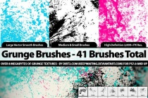 41 Grunge Brushes – PS7