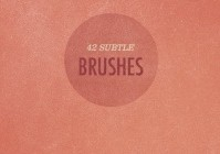 42 More Subtle Grunge Textured Photoshop Brushes