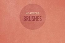 42 More Subtle Grunge Textured Photoshop Brushes
