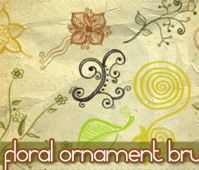 Floral ornament brushes