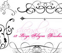 arge Filigree Brushes