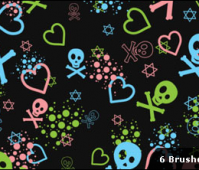 Kawaii Skull Brushes