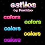 Estilos de colores