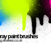 spray paint set brushes