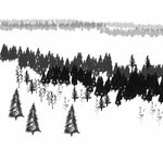 Winter Trees Brushes