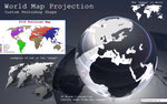 World Map photoshop shape