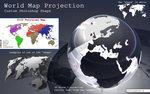 World Map photoshop shape
